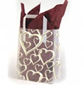 Golden Heart Frosted Bags